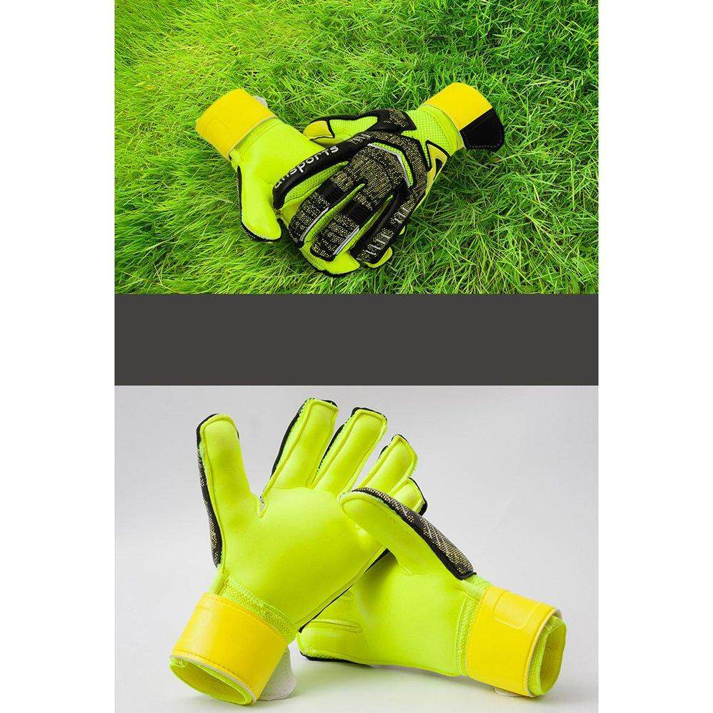 Goalkeeper Gloves With Fingertips Football Goalkeeper Childrens Adult Gloves Thick Latex Slip Protection Finger By Cheetkit.