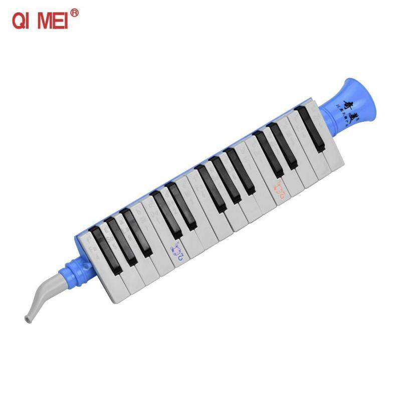 QI MEI QM27A 27 Keys Keybokard Harmonica Portable Melodica Musical Education Instruments for Beginners Students Blue Malaysia