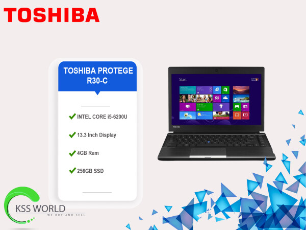 TOSHIBA PORTEGE R30-C INTEL CORE i5-6200U (6TH GEN) CPU @ 2.3GHz 4GB RAM DDR3 256GB SSD HD Display (STUDENT CHOICE) Malaysia