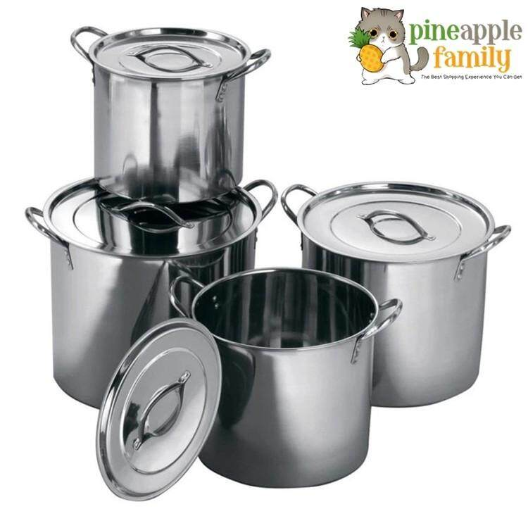 8pcs Set Mirrored Polished Stainless Steel Stock Pots