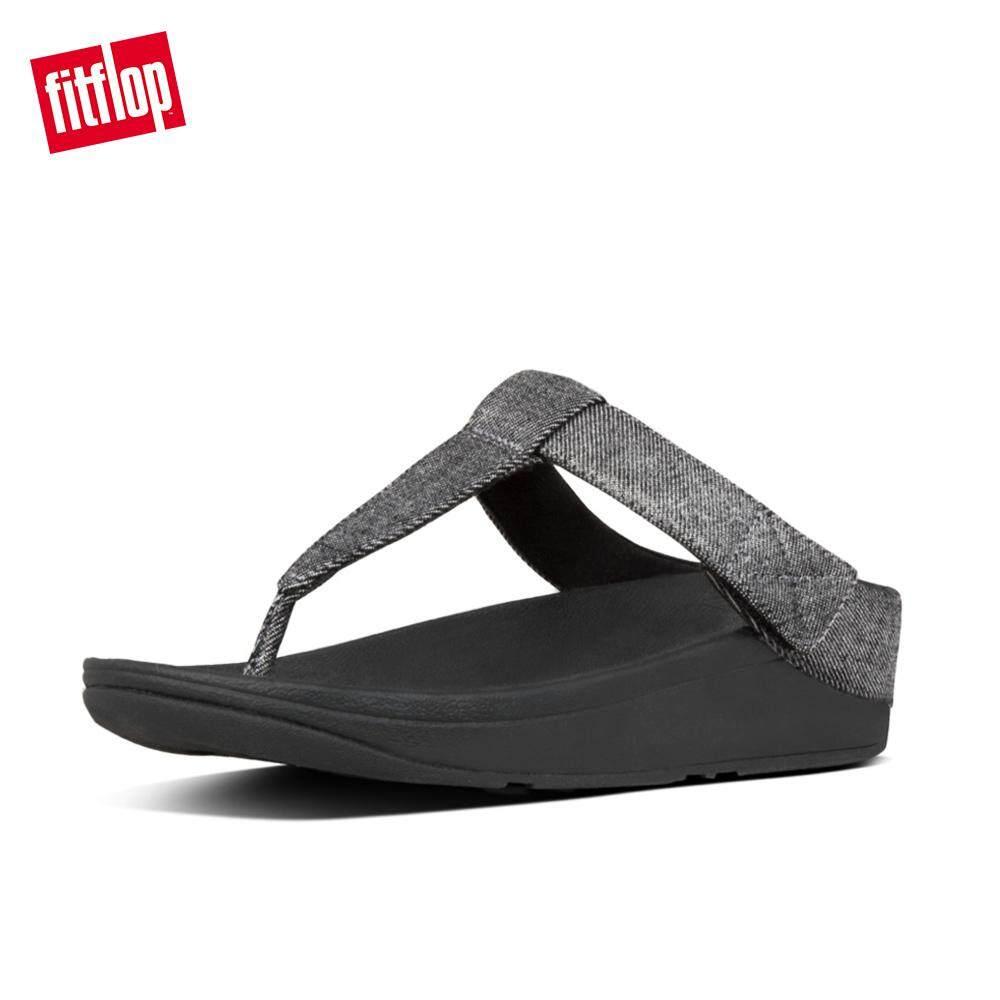 size 40 ef94d a40a3 Fitflop Women's X16 Mina Shimmer Denim Toe Thong Lightweight Comfortable  Slip-Resistant HS19