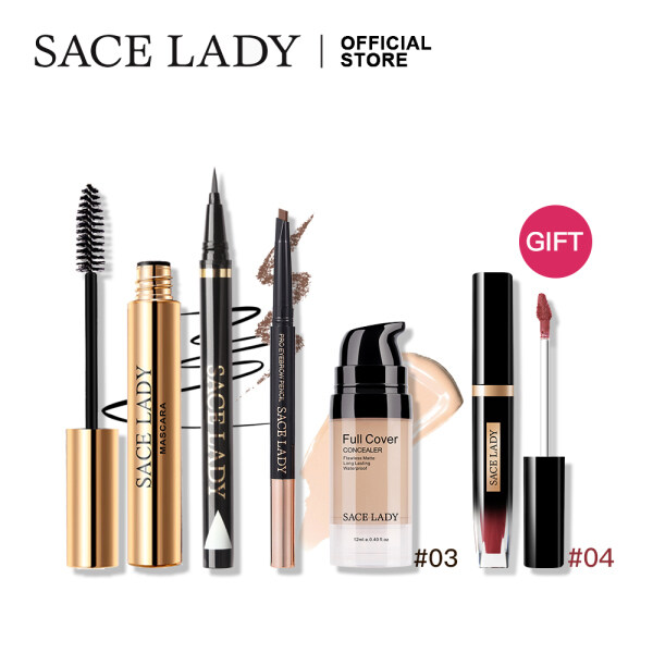 Buy SACE LADY Make Up Set Matte Lipstick Concealer Waterproof Mascara Eyeliner Eyebrow Pen Makeup Cosmetics 5Pcs Singapore