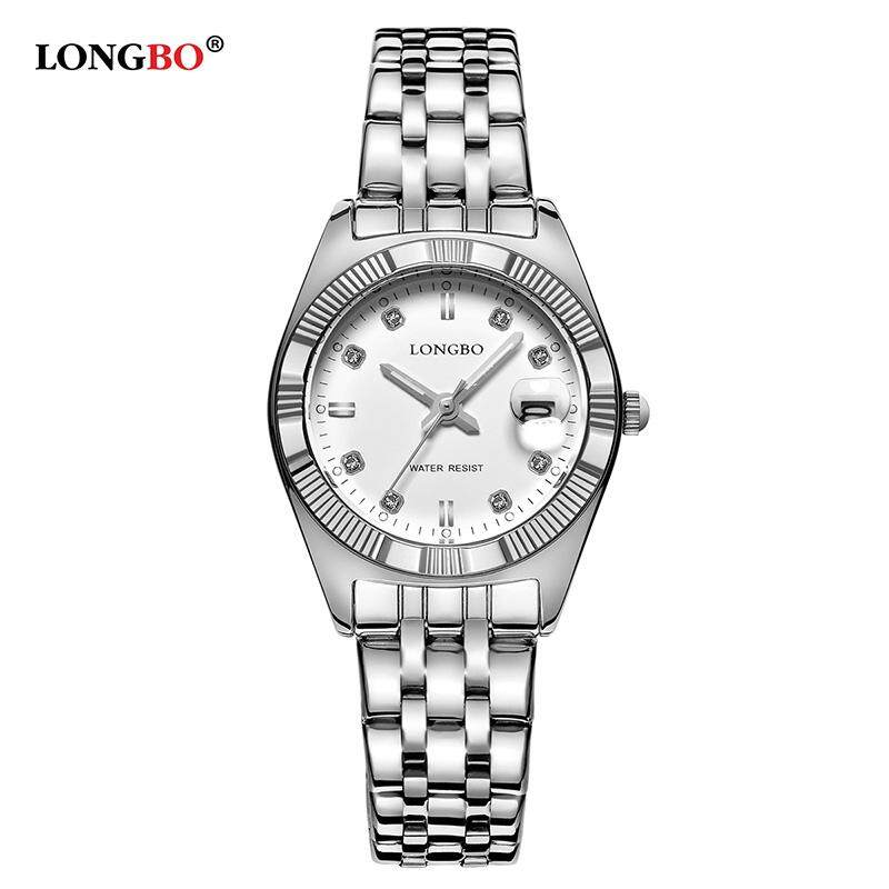 Ready Stock! LONGBO Women Waterproof Luxury Stainless Steel Strap Business Watches Quartz Couple Wrist Watch 80163 Malaysia