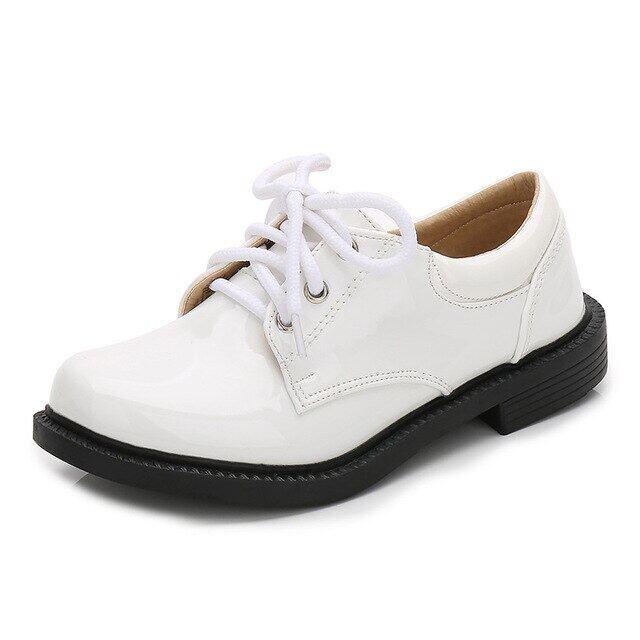 Mới Trẻ Em Bé Trai Giày Nam Trượt Trên Trang Phục Chính Thức Bằng Sáng Chế Giả Da Giày Đế Chàng Trai Giày Tây Tua Giày Cưới Kích Thước 28-43