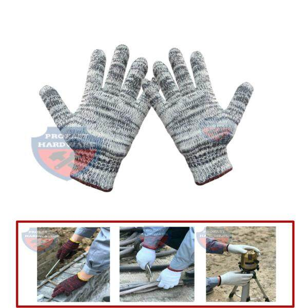 Cotton Knitted Gardening Gloves Hands Safety Protective Glove 12pairs - A1200