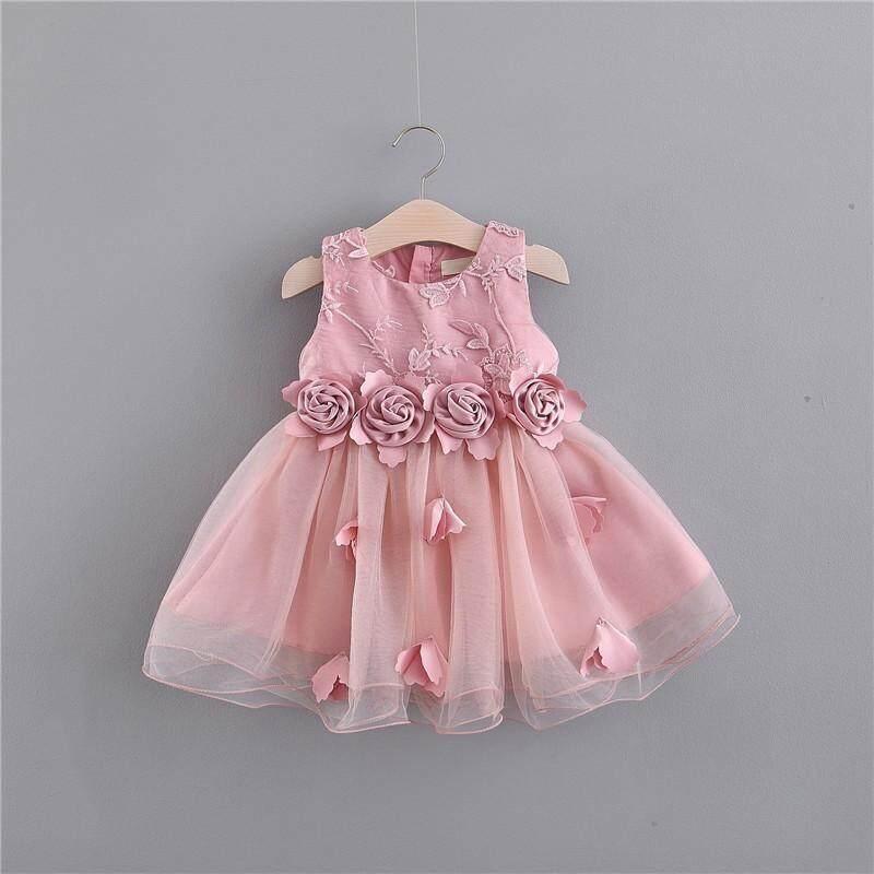 Giá bán Trẻ em váy cho bé gái Trẻ Em Cô Gái Váy cộc tay Bé Gái lưới mùa hè váy công chúa