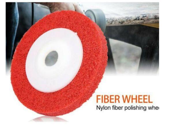 "4"" 100mm 9P Nylon Fiber Polishing Wheel Sanding Buffing Disc Abrasive Wheels for Angle Grinder Mata Polish BesI"