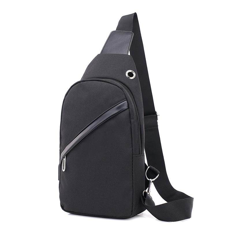 New mens chest bag slung shoulder bag chest bag canvas leisure bag Korean version of the small backpack mens bag trend pockets