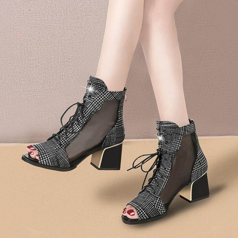 New And Fashion Women's Sandals High Heels Casual Shoes Heeled Sandal Simple Trend Female Sandals By Xin Xin Shop.
