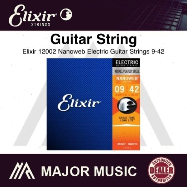 Elixir 12002 Nanoweb Electric Guitar Strings 9-42 Malaysia