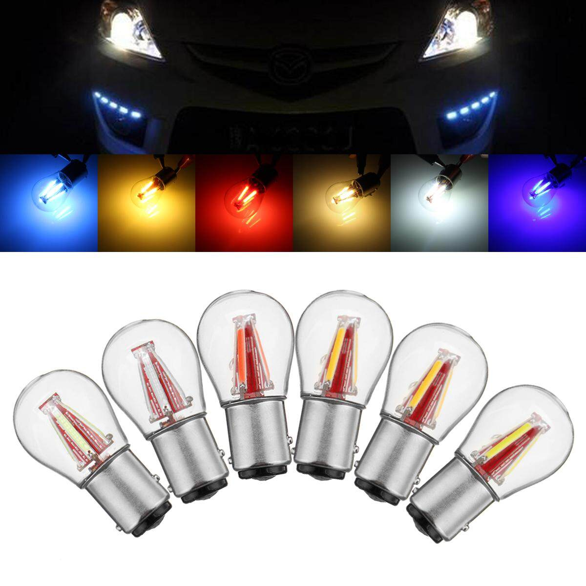 4LED Filament 1157 BAY15D Light Bulb Car Tail Stop Brake Lamp Parking Light