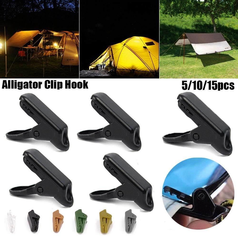 15Pcs Alligator Clip Hook Camping Tent Holder Canvas Tighten Tool Tarp Gripper