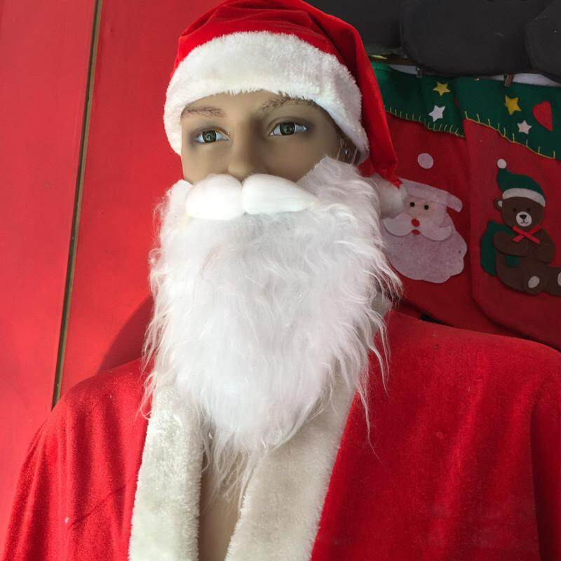 Giáng Sinh người lớn Ông Già Noel Trắng Tóc Giả Râu Ria Mép Áo Lạ Mắt Trang Phục hóa Trang