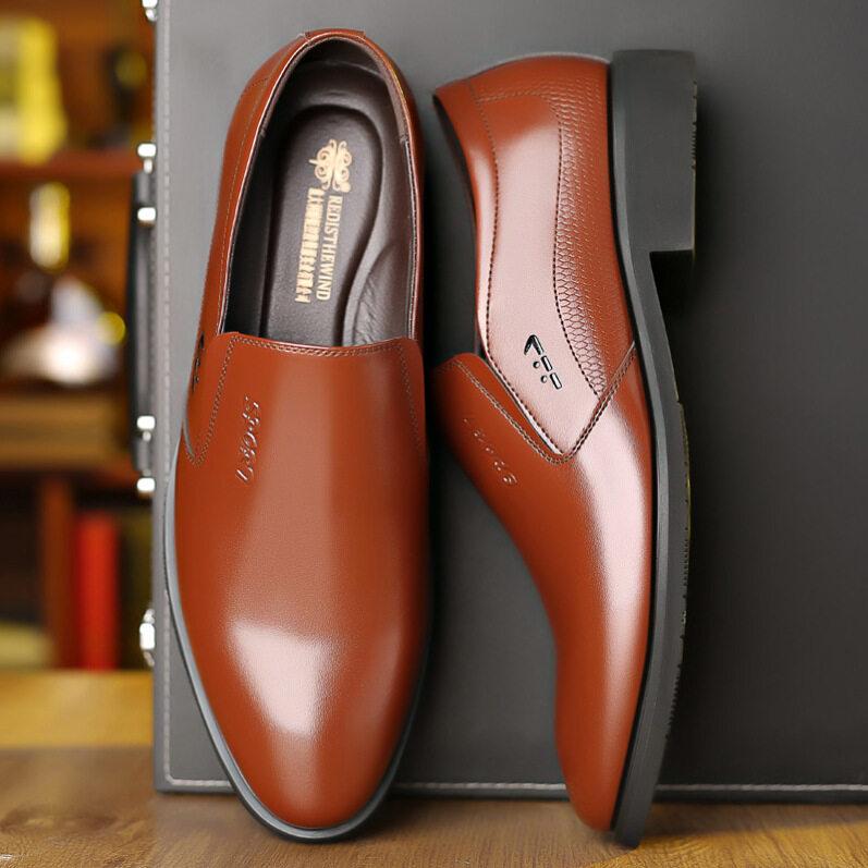 Giày Da Kiểu Anh Cho Nam, Giày Công Sở Thường Ngày Đế Mềm Thoáng Khí Thời Trang Kiểu Hàn Quốc Mùa Hè giá rẻ
