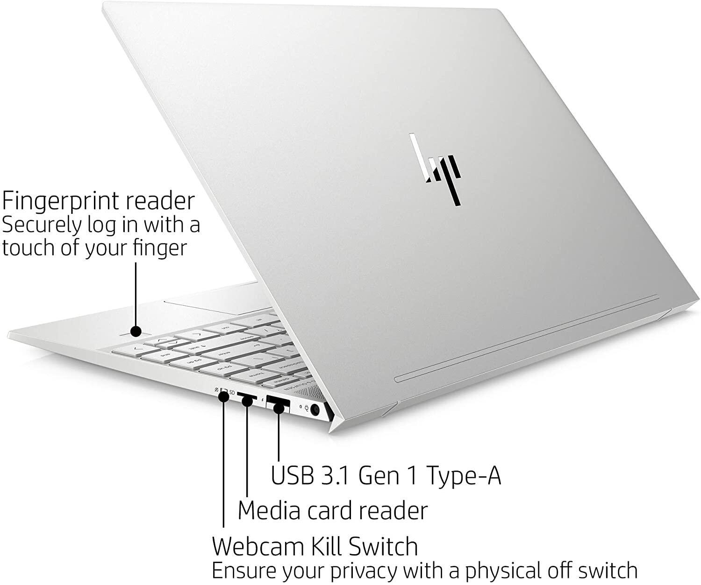 HP ENVY 13 Inch Thin Laptop w/ Fingerprint Reader, 4K Touchscreen, Intel Core i7-8565U, NVIDIA GeForce MX250 Graphics, 16GB SDRAM, 512GB SSD, Windows 10 Home Malaysia