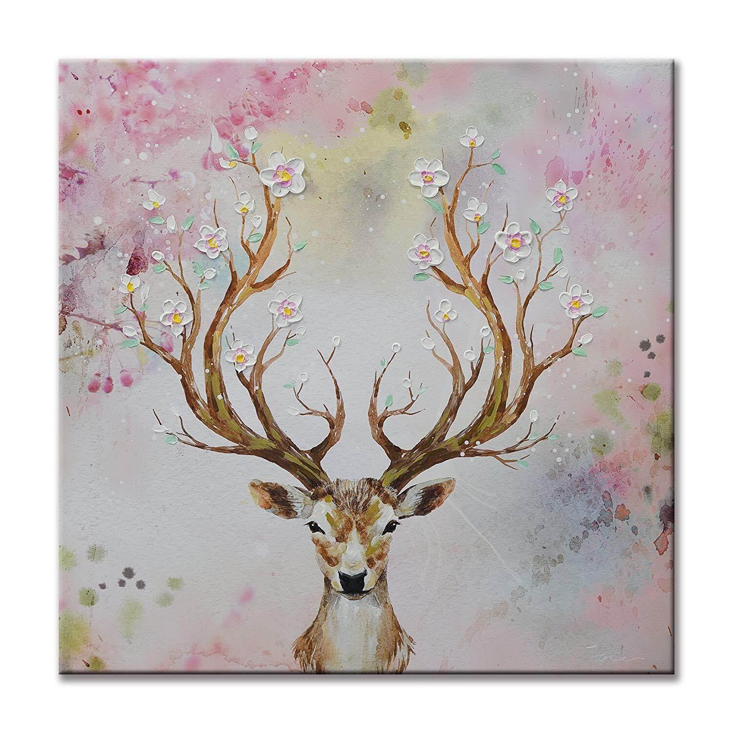 Reindeer Canvas Prints Modern Home Decor Animal Wall Art Picture Deer UNFRAMED