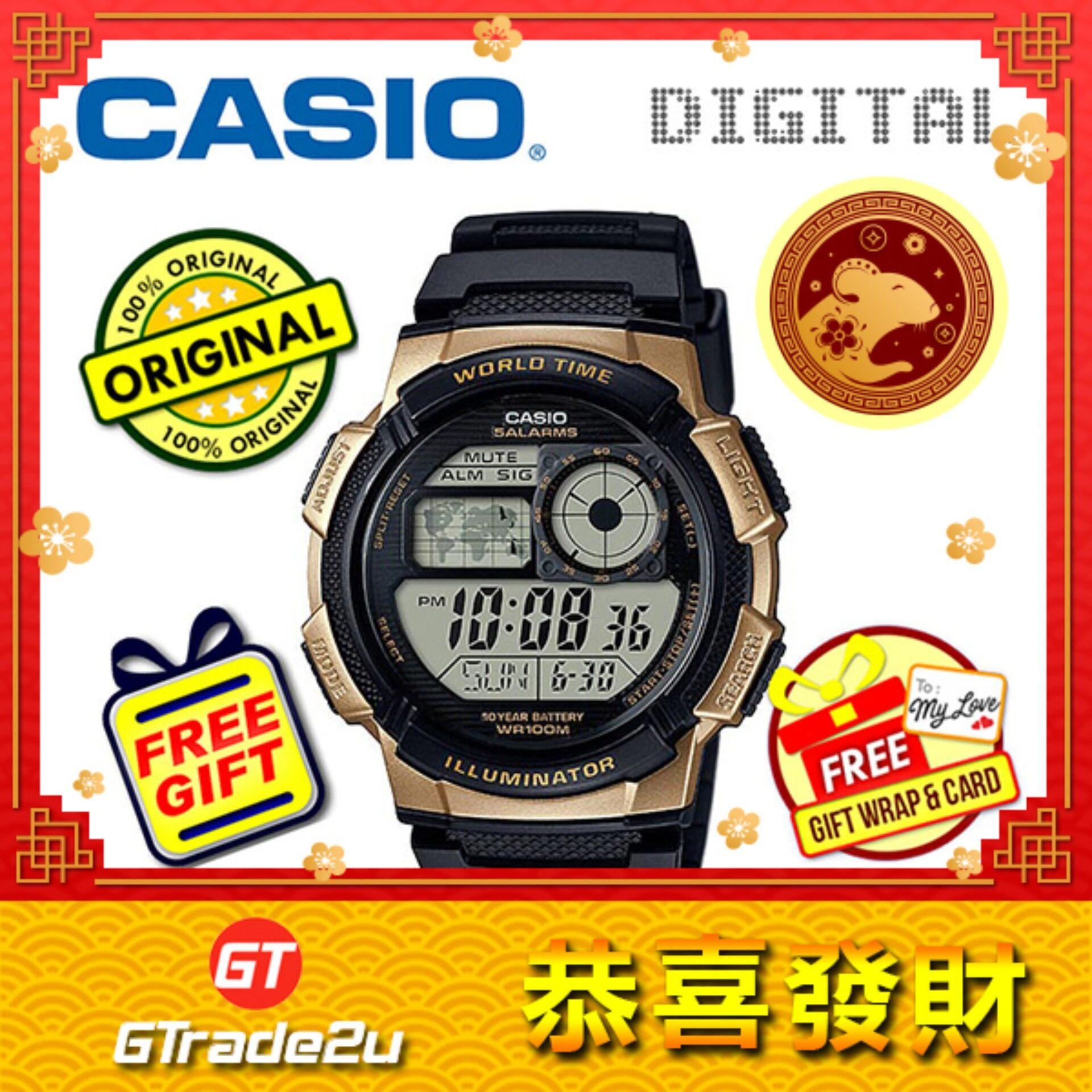 CASIO STANDARD AE-1000W-1A3V Digital Watch - 10 Yrs Batt. WR100M watch for man jam tangan lelaki Malaysia