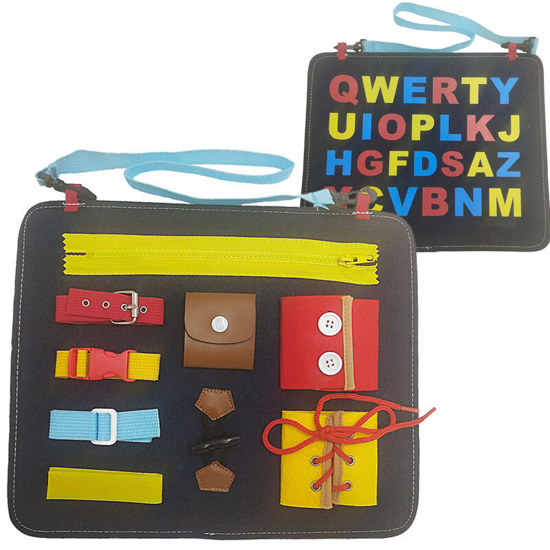 ♝ New double sided printing childrens Clothing Learning puzzle board felt busy version of childrens mother and baby toy Malaysia