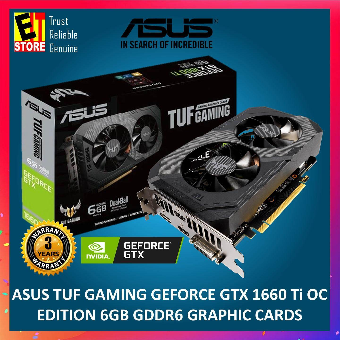 ASUS TUF GAMING GEFORCEGTX 1660 Ti OC EDITION 6GB GDDR6 GRAPHIC CARDS (TUF-GTX1660TI-O6G-GAMING)