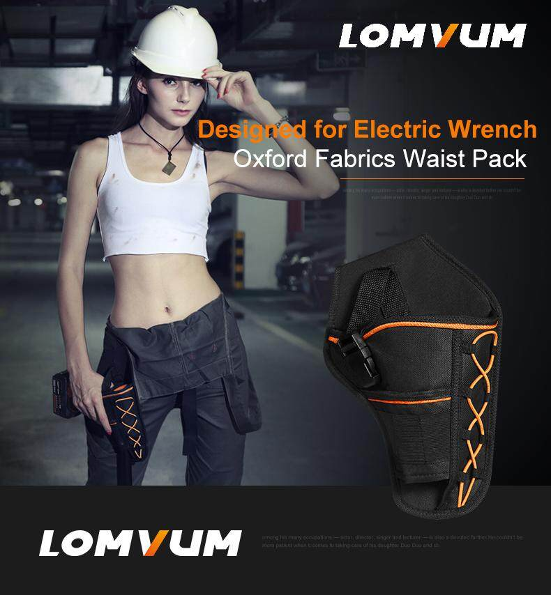 LOMVUM Electric wrench bag tools pockets power tools Oxford Electric Hand Drill Impact Wrench Universal Tool Bags