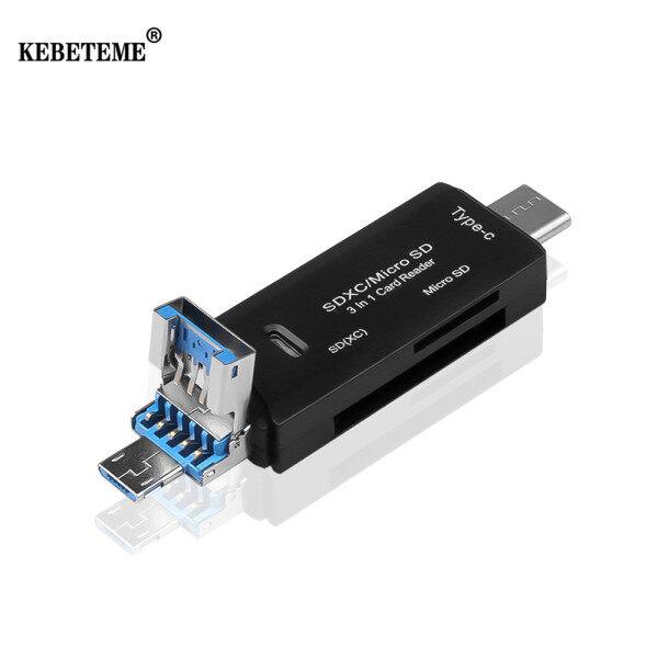 Bảng giá Đầu Đọc Thẻ OTG 3 Trong 1 KEBETEME, Đầu Nối Bộ Chuyển Đổi Đa Năng Ổ Đĩa Flash Micro USB Đầu Đọc Thẻ Nhớ OTG TF Tốc Độ Cao Phong Vũ