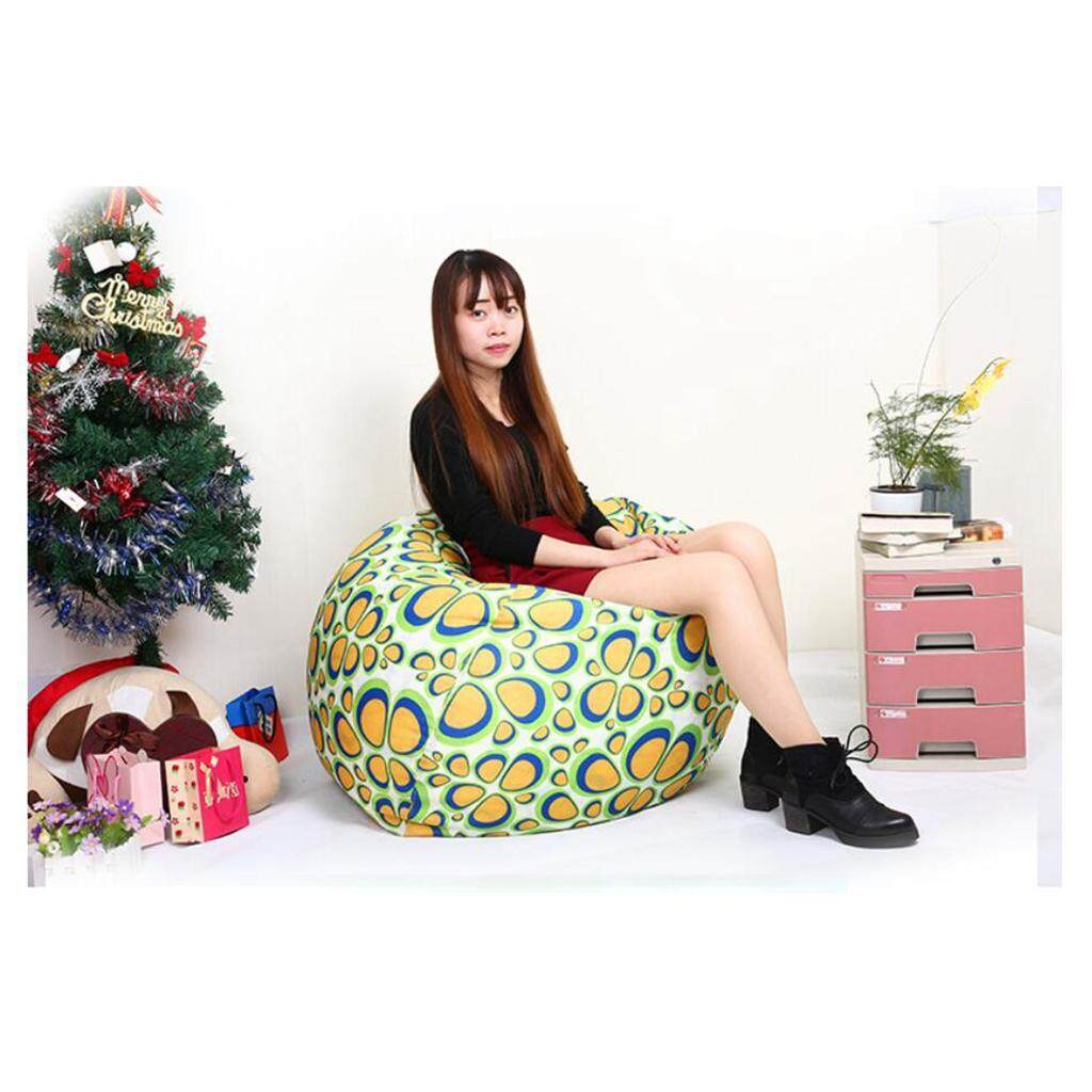 60x75cm Animal Storage Bean Bag Cover LOVIVER Kids Stuffed Animal Storage Bean Bag Cover Comfy Chair Comfortable Seating for Kids | Cats Large Size at 30inch