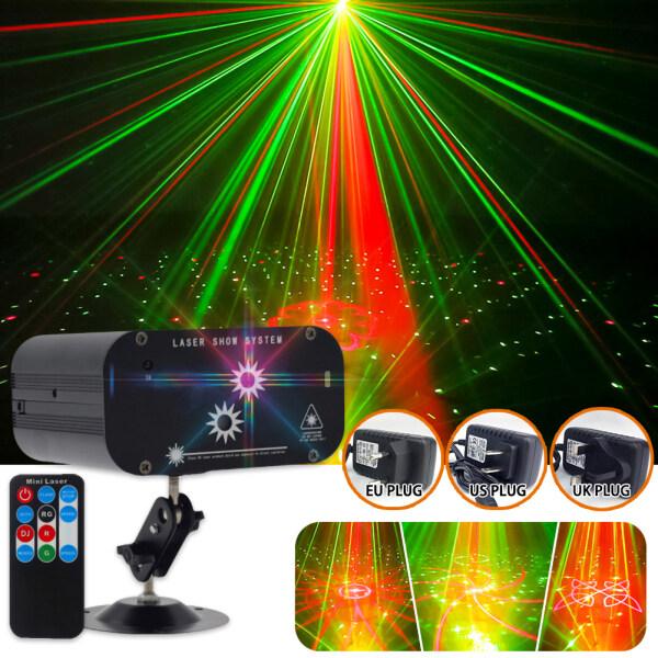2 Lỗ 48 Họa Tiết Máy Chiếu Laser Từ Xa/Âm Thanh Actived LED Disco Đèn RG DJ Đảng Đèn Sân Khấu Giáng Sinh Đèn trang Trí