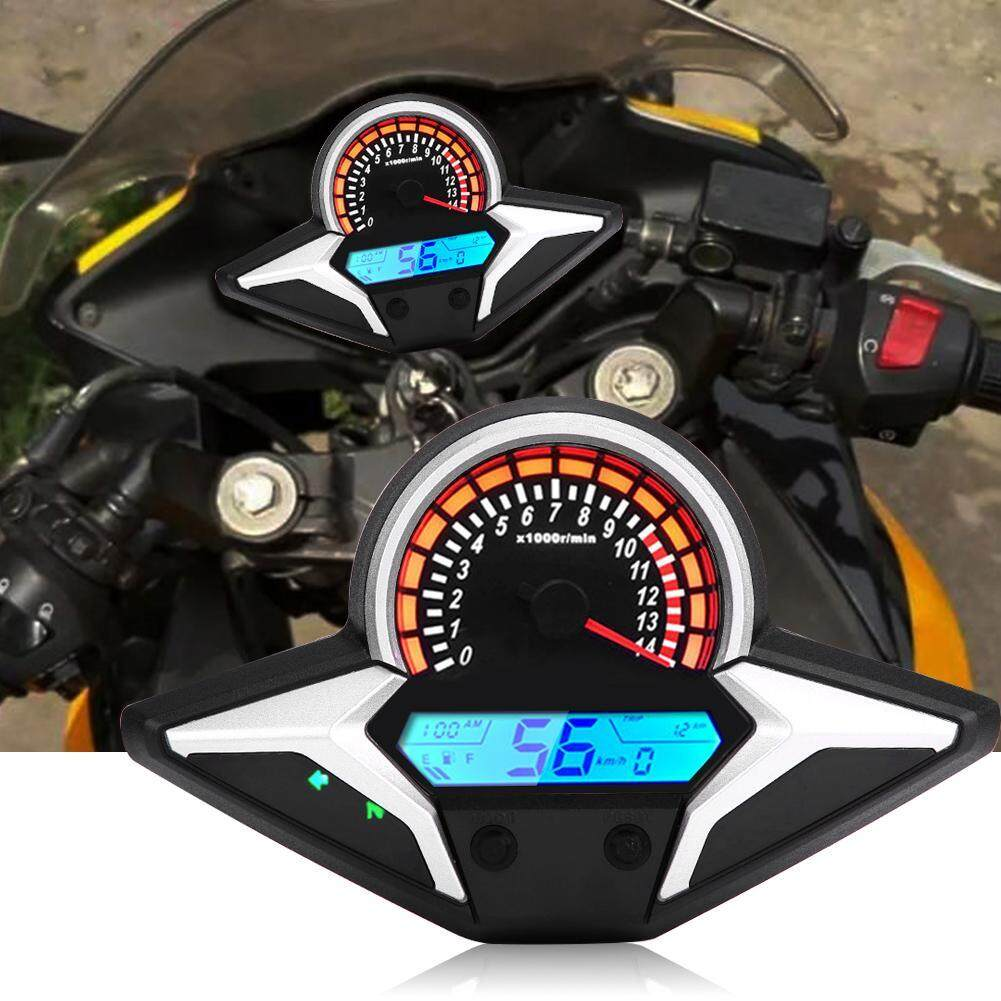 Motorcycle Odometer ABS Universal Anti-glare Digital Colorful LCD Motorbike Speedometer Tachometer with Speed Sensor