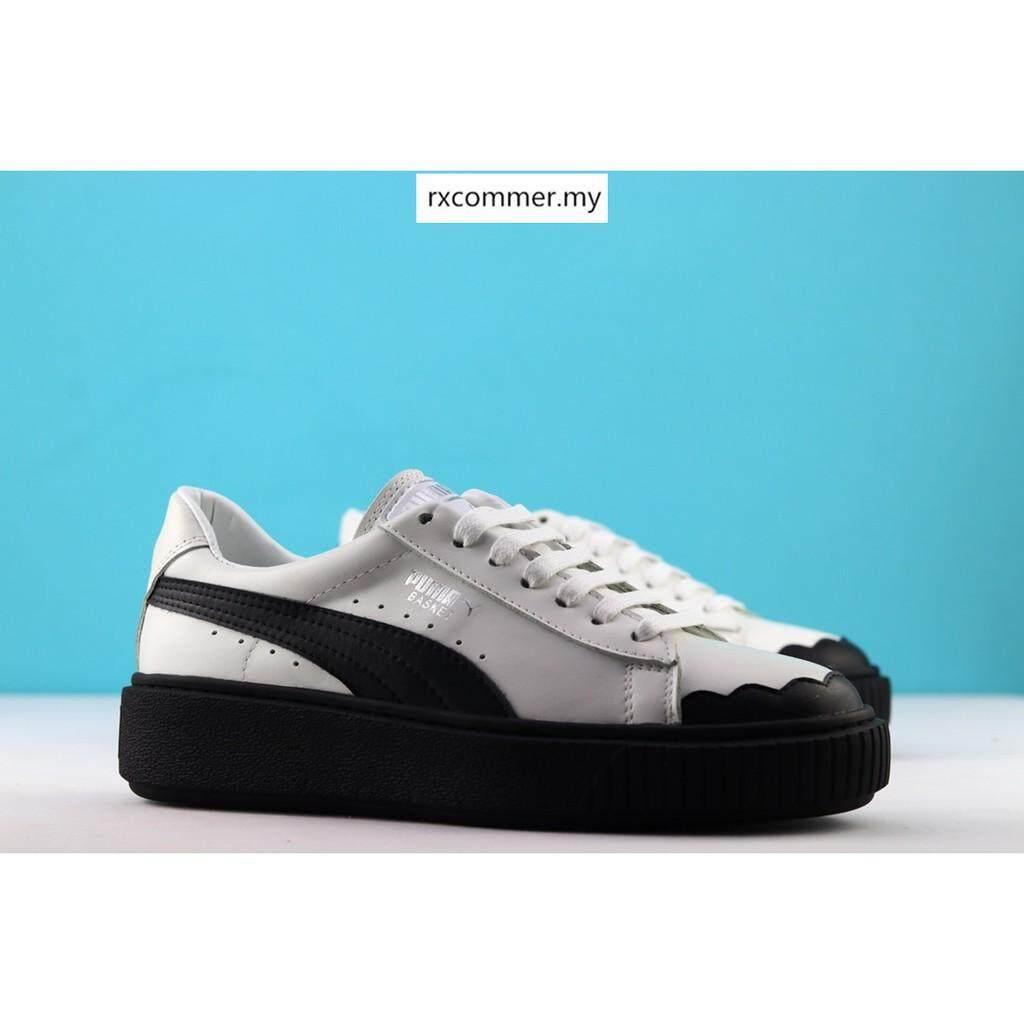 Original Puma_basket_platform_scallop_sneakers women running shoes