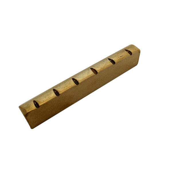 Smooth Solid Brass Slotted Cut Guitar Nut 43mm for LP Guitar and Similar Guitars,made in South Korea Malaysia