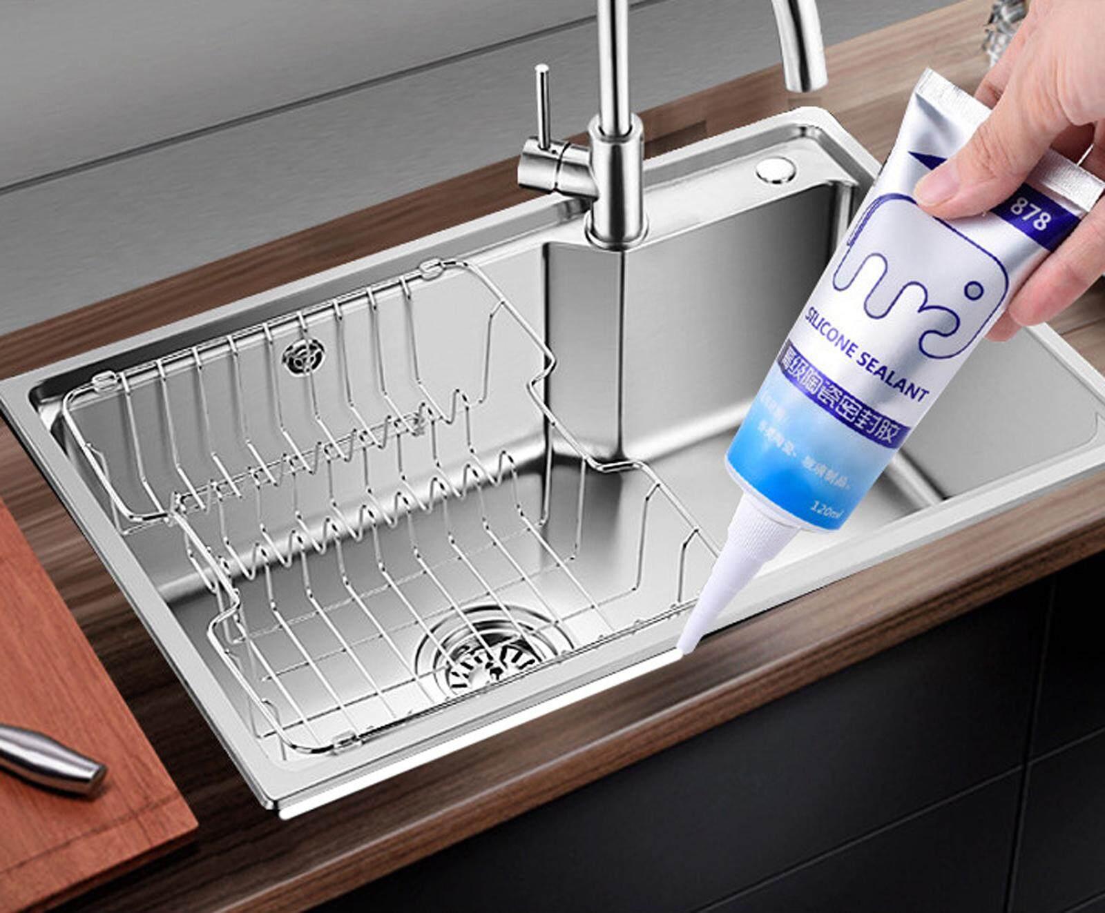 NaVa KS-878 DIY Multipurpose Waterproof Silicon Sealant for Kitchen Toilet Bathroom Tile Anti Mold Fungus Tool [120ml]