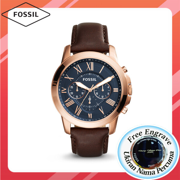 [FREE ENGRAVE] Original Fossil GRANT CHRONOGRAPH 44mm with 2 years warranty FS5068 Malaysia