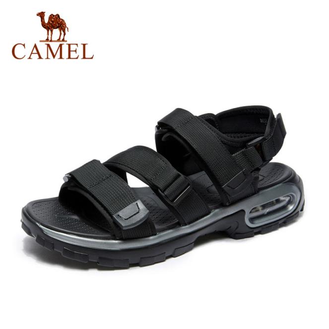 Cameljeans Giày Nam Mùa Hè, Xăng Đan Thời Trang Mới, Giày Đi Biển Đệm Của Nam Giày Thường Ngày Thoáng Khí Velcro giá rẻ