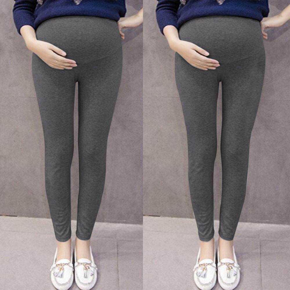 ddaac4251a703 BabyTS_Pregnant Women's Pants Solid Color And Thin Maternity Pregnancy  Trousers Free shipping