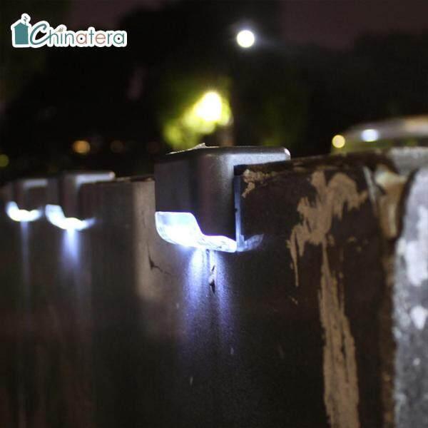 [Chinatera] 4 Chiếc Sàn Năng Lượng Mặt Trời Không Thấm Nước Bước Đèn Tường Lối Đi Ngoài Trời Sân Cầu Thang Sân Hàng Rào Vườn Đèn Trang Trí