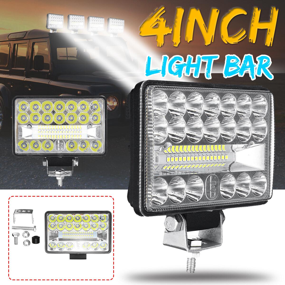 【New】 (Lapangan 4inch-wide) 108W 36led IP68 Lampu Kerja Lampu Kabut LED Mobil Lampu Berkendara 10800lm Spot + Sorot Kombo Sorot untuk Sepeda Motor Truk Mobil 4WD Offroad Pickup ATV DC9-30V 6000k-wht