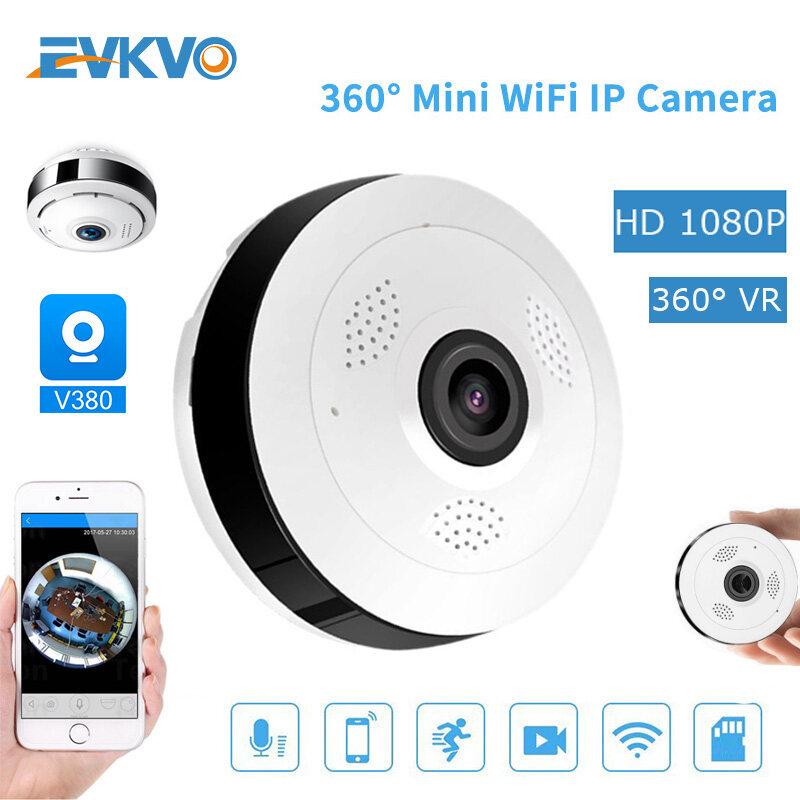 Ứng Dụng EVKVO - HD 1080P V380 ( Lắp Đặt Trần Treo Tường ) Camera IP MINI Toàn Cảnh 360 Độ, Màn Hình Em Bé Wifi Không Dây CCTV