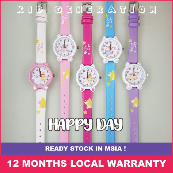 KIDS GENERATION WATCH【 HAPPY DAY 】 MIYOTA CITIZEN 【JAPAN】 QUARTZ MVMT MALAYSIA LOCAL WARRANTY 12 MONTHS KIDS WATCH【FROZEN WHITE】【LIGHT PINK】【SWEET PINK】【FROZEN BLUE】【CUTE PURPLE】 Malaysia
