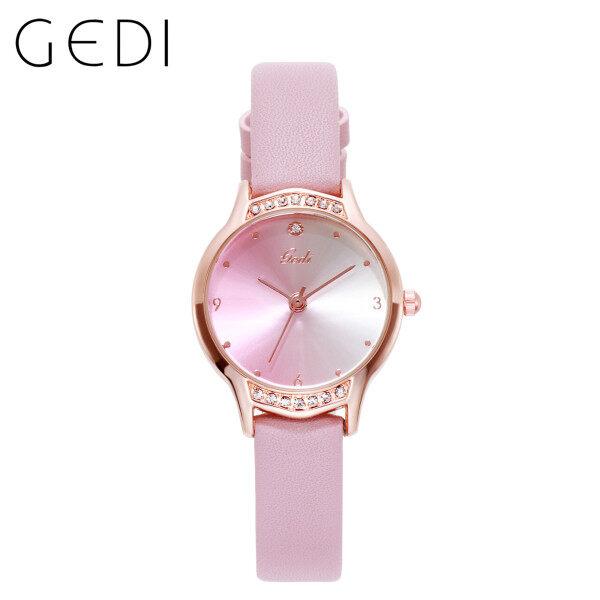 Nơi bán GEDI 13023 Đồng hồ nữ thời trang sành điệu Chữ gradient có giá trị cao Đồng hồ đeo tay Đồng hồ thạch anh chống nước Có bảo hành