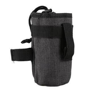Bicycle Handlebar Bag Front Tube Bag Cycle Bike Kettle Insulated Bag Bike Water Bottle Pocket Bicycle Bottle Bag Bike Accessories-Gray thumbnail
