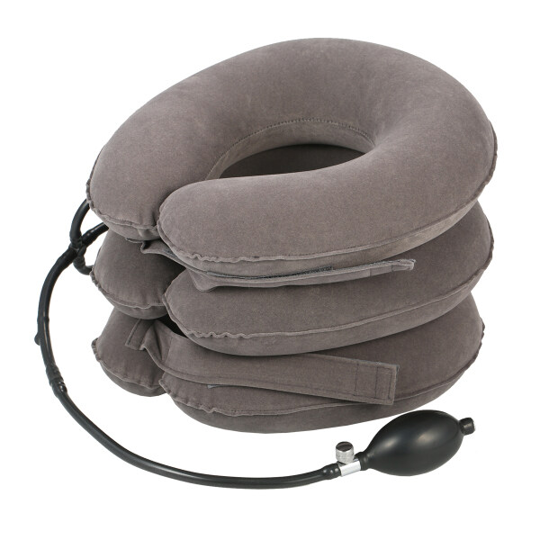 Docooler Pinched Nerve Neck Stretcher Cervical Traction Device 3 Tube Quick Inflate Neck Stretcher Collar Instant Pain Relief for Chronic Neck and Shoulder Pain