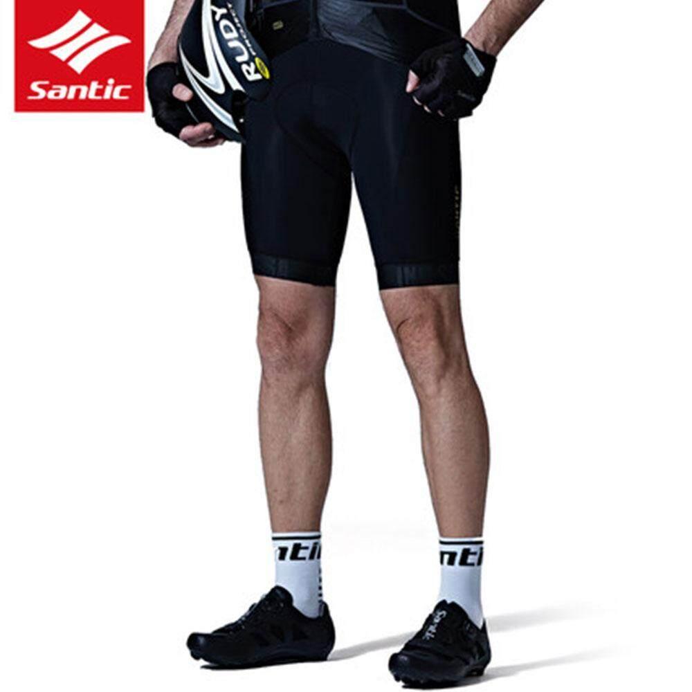Santic Men/'s MTB Road Bike Cycling Fit Italian Imported Riding Pad Black Shorts