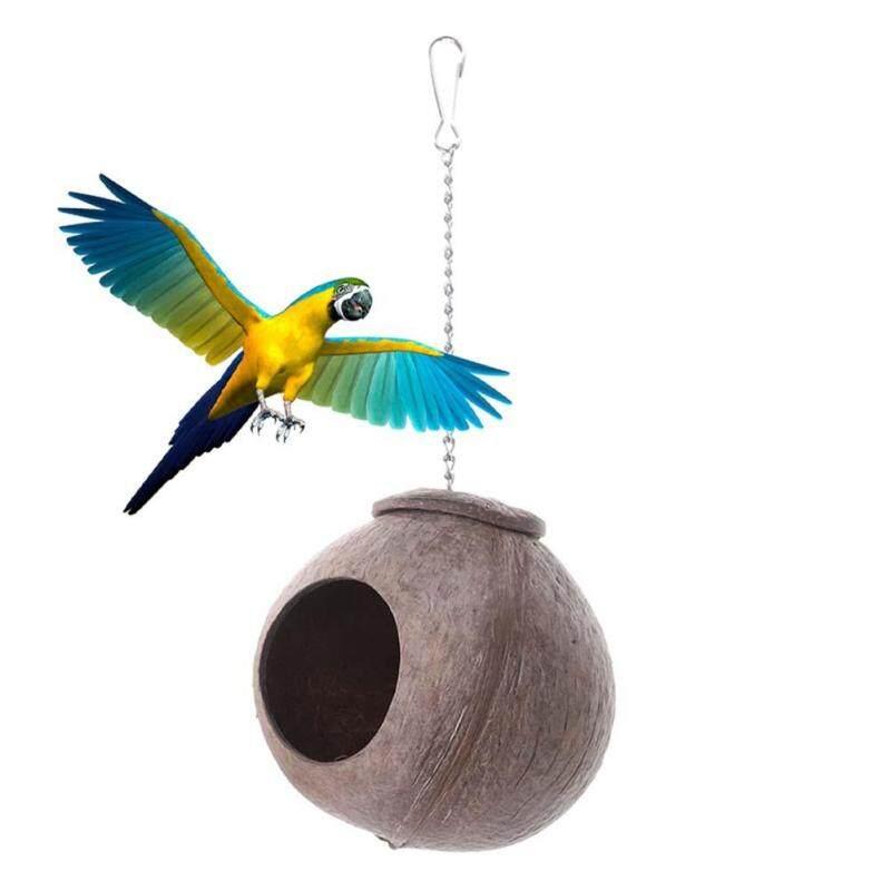 Huanhuang®Vỏ Dừa Tự Nhiên Tổ Chim Nhà Lồng Cho Thú Cưng Vẹt Vẹt Vẹt Đuôi Dài