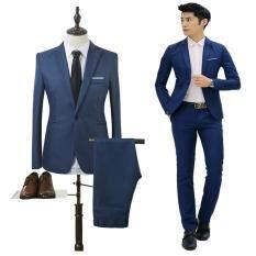 Bộ Đồ Vest Trang Trọng Phù Hợp Cho Nam Slim Fit Blazer bestman groomsman 【Phong Cách Cổ Điển Chất liệu Polyester, Cotton】 – Hittime