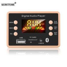 Mạch giải mã Bluetooth 5.0 KEBETEME MP3 5V 12V không dây tần số 87.5-107/5Mhz hỗ trợ USB TF FM WMA WAV FLAC APE cho xe ô tô – INTL