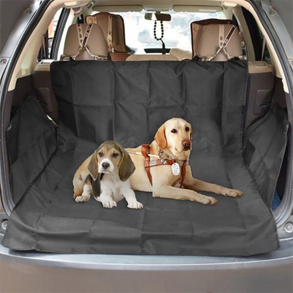 Dog Car Seat Bìa Dấu Chân Dày Pet Xe Không Thấm Nước Mat Oxford Vải Xe Thân Cây Pad Chó Ngoài Trời Xe Mat