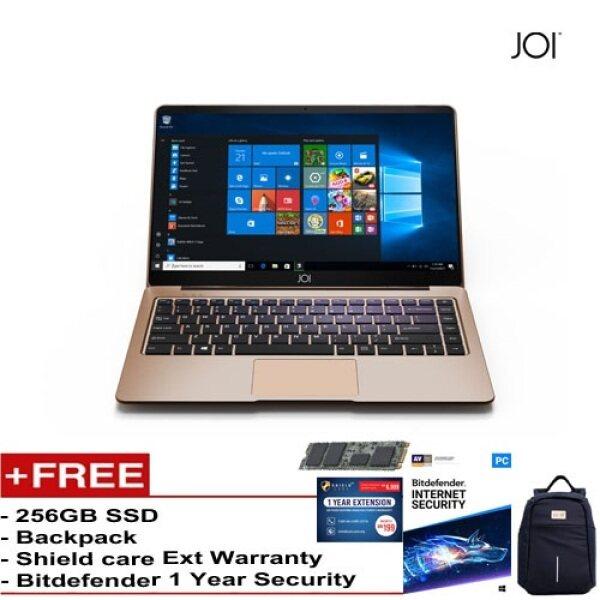 JOI Book 150 – AD-L150DG/AD-L150G Cel N4100, 4+32GB, 14 FHD, W10 Home {Free 256GB SSD + Anti-Theft Backpack - Blue + Bitdefender 1Yr + Shieldcare 1 Yr Extended Warranty } Malaysia