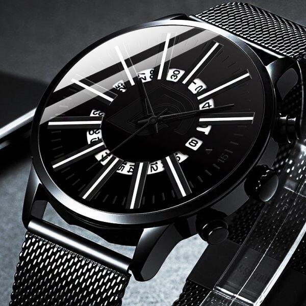Watch For Men 2021 Luxury Fashion Mens Stainless Steel Mesh Band Quartz Watches Man Business Casual Calendar Date Clock Malaysia