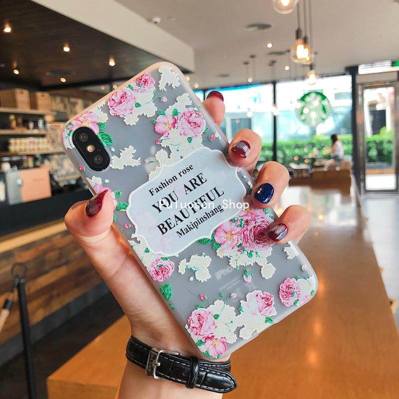PHP 153. Puluosen Garden Rose Flower Word TPU Phone Case For OPPO ...