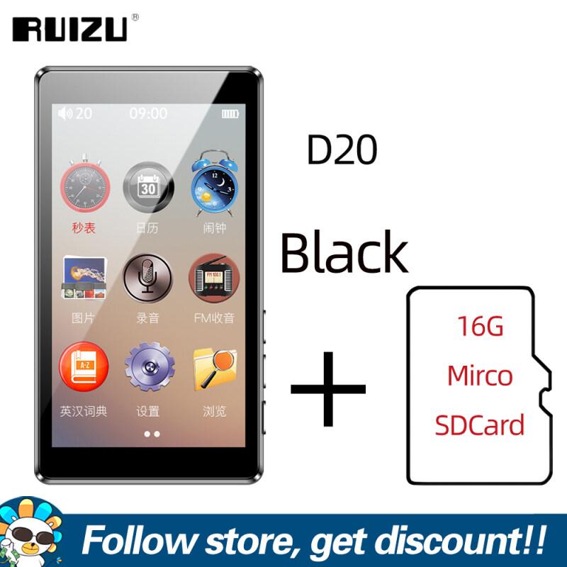 Máy nghe nhạc MP3 8GB chính hãng D20 RUIZU màn hình cảm ứng màu 3 inch máy nghe nhạc cầm tay tích hợp loa hỗ trợ đài FM ghi video E-Book thẻ TF - INTL